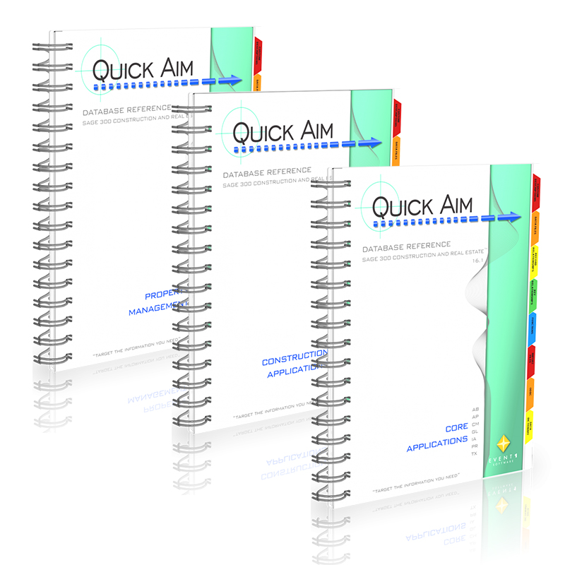 Quick Aim Database Reference Manuals for Sage 300 CRE