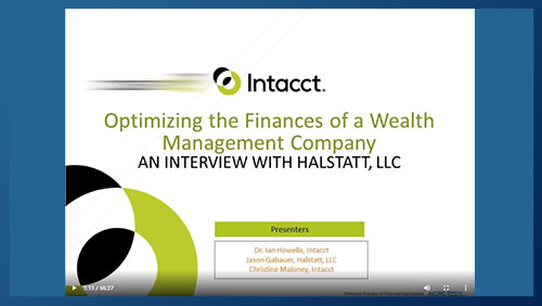 Webinar: Optimizing the Finances of a Wealth Management Company