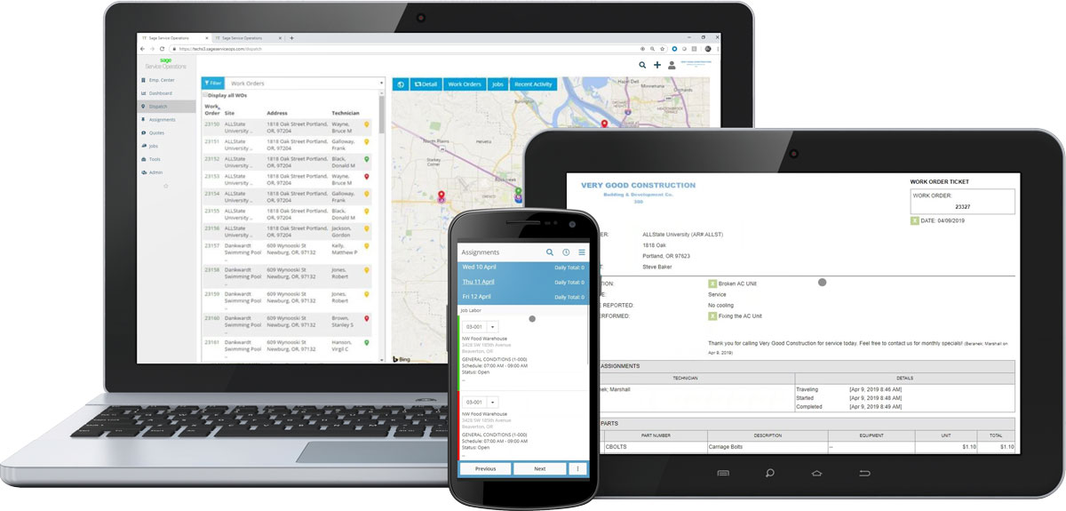 Sage Service Operations on Mobile Devices
