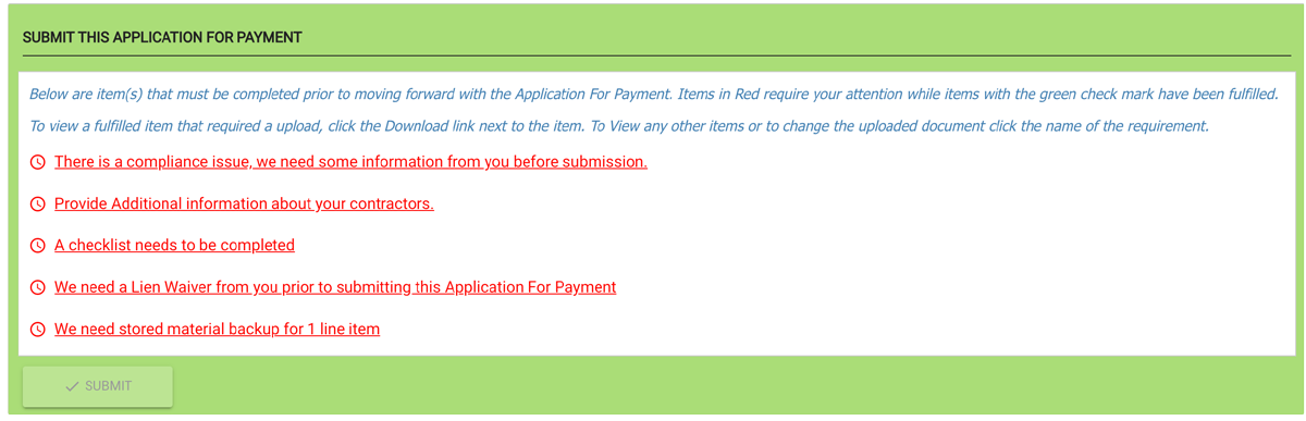 Before a subcontractor can submit their pay app