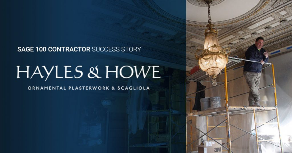 Plaster Contractor Hayles and Howe Casts A Profitable Future With Sage 100 Contractor